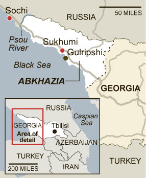Map of Abkhazia. Source: NYT